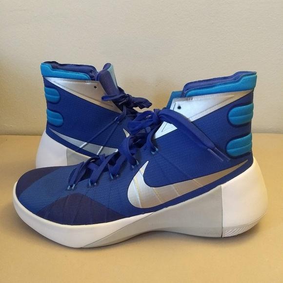 78bb6d368124 Nike Hyperdunk 2015 White Blue Basketball Shoes 12